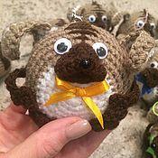 Куклы и игрушки ручной работы. Ярмарка Мастеров - ручная работа Пёсик-ёлочная игрушка. Handmade.