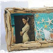 """Сувениры и подарки ручной работы. Ярмарка Мастеров - ручная работа Рамка плавник """"Ты, я и море"""". Handmade."""