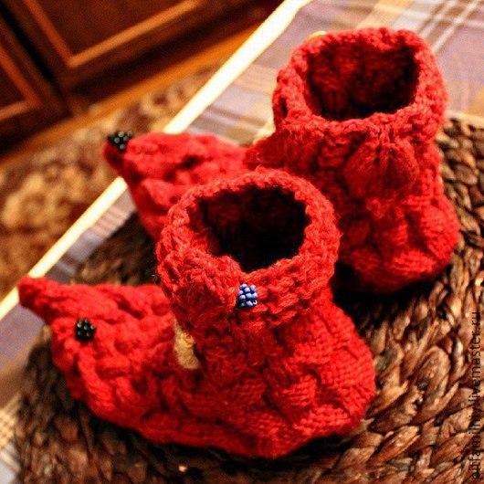 """Обувь ручной работы. Ярмарка Мастеров - ручная работа. Купить Носочки эльфа """"Ягодное лукошко"""". Handmade. Handmade, рукоделие"""