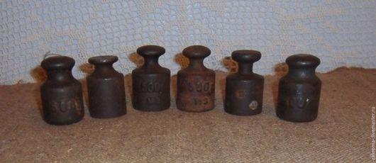 Винтажная посуда. Ярмарка Мастеров - ручная работа. Купить Гири советские.. Handmade. Коричневый, гири для весов