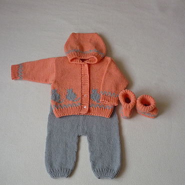 Works for children handmade. Livemaster - original item Knitted set for girls.. Handmade.