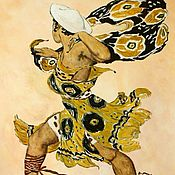 Картины и панно handmade. Livemaster - original item Watercolour costume design for the ballet Narcisse, Leon Bakst. Handmade.