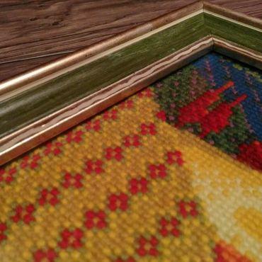"""Картины и панно ручной работы. Ярмарка Мастеров - ручная работа Вышивка крестом """"Сказочная поляна"""". Handmade."""