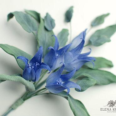 """Flowers and floristry handmade. Livemaster - original item Цветы из шелка. Колокольчики """"Матини"""". Handmade."""