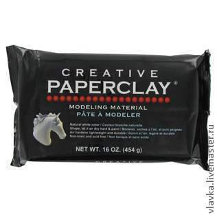 Куклы и игрушки ручной работы. Ярмарка Мастеров - ручная работа. Купить Paperclay ( паперклей ) Creative Паперклей креатив , 454 г. Handmade.