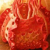 """Для дома и интерьера ручной работы. Ярмарка Мастеров - ручная работа Светильник из шерсти валяный """"Огонек"""". Handmade."""