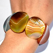 Украшения handmade. Livemaster - original item Bracelet made of natural stone agate. Handmade.