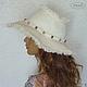 """Шляпы ручной работы. Ярмарка Мастеров - ручная работа. Купить Шляпа """"Молочные реки.."""" (лён). Handmade. Белый"""