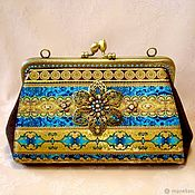 Сумки и аксессуары handmade. Livemaster - original item Handbag cosmetic bag with clasp Atlantis. Handmade.