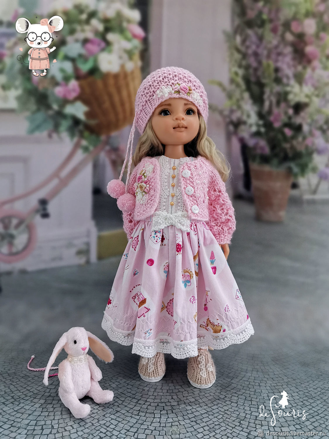 Clothes for Paola Reina dolls. A set of 'Pink marshmallow', Clothes for dolls, Voronezh,  Фото №1