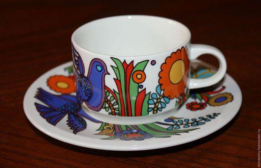 Винтажная посуда. Ярмарка Мастеров - ручная работа. Купить Весёленькие кофейные пары с птичками и цветочками, Villeroy & Boch. Handmade.