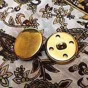 Материалы для творчества ручной работы. Ярмарка Мастеров - ручная работа пуговица металлическая под золото. Handmade.
