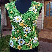 Одежда ручной работы. Ярмарка Мастеров - ручная работа блузка Ромашки №3. Handmade.