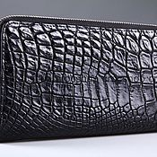 Сумки и аксессуары handmade. Livemaster - original item Clutch bag in crocodile leather with two zippers IMA0001B5. Handmade.