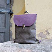 Рюкзак арт. 293/серый+фиалковый