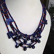 Украшения handmade. Livemaster - original item Blue butterflies. Necklace.. Handmade.