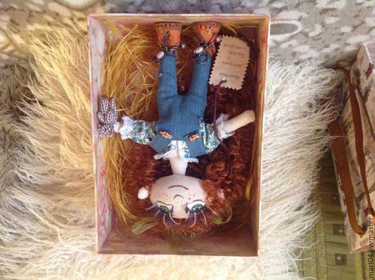 Куклы тыквоголовки ручной работы. Ярмарка Мастеров - ручная работа. Купить Джулия. Handmade. Бежевый, кудряшки, комбинезон для девочки, тыквоголовка