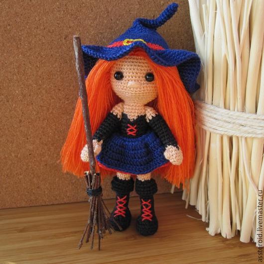 Человечки ручной работы. Ярмарка Мастеров - ручная работа. Купить Вязаная кукла. Ведьмочка. Handmade. Вязаная кукла, кукла в подарок