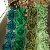 Материалы для творчества ручной работы. Ярмарка Мастеров - ручная работа Трехмерные розы Шебби Шик 6 см  № 15-19. Handmade.