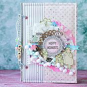 Подарки к праздникам ручной работы. Ярмарка Мастеров - ручная работа Дневник фотоальбом беременности для будущей мамы. Handmade.