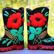 Обувь ручной работы handmade. Livemaster - original item Children`s valenki, valenki to order and in stock,