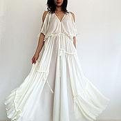 Одежда handmade. Livemaster - original item white maxi dress, wedding dress, beach dress, evening dress. Handmade.