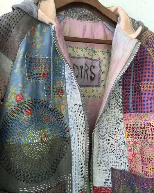 Верхняя одежда ручной работы. Ярмарка Мастеров - ручная работа. Купить Куртка этно. Handmade. Комбинированный, хлопок 100%