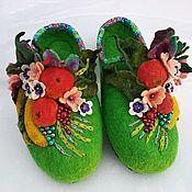 handmade. Livemaster - original item Felted Slippers