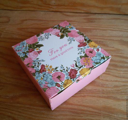 Упаковка ручной работы. Ярмарка Мастеров - ручная работа. Купить Коробочка Для тебя цветочная. Handmade. Комбинированный, коробочка