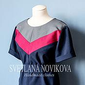 Одежда ручной работы. Ярмарка Мастеров - ручная работа Платье с цветными блоками. Handmade.