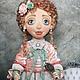 Коллекционные куклы ручной работы. Ярмарка Мастеров - ручная работа. Купить Кукла текстильная Жанетт. Handmade. Мятный, кукла интерьерная