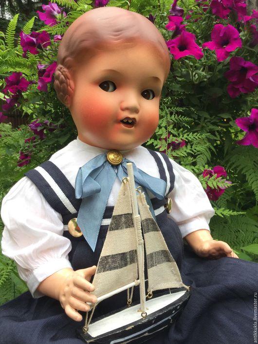 Винтажные куклы и игрушки. Ярмарка Мастеров - ручная работа. Купить Чудесная Барбель от Armande Marseille. Handmade. Бледно-розовый, море