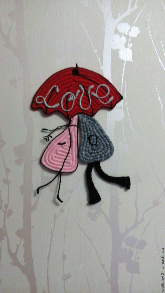"""Подарки для влюбленных ручной работы. Ярмарка Мастеров - ручная работа. Купить Панно """"Всегда вместе с любовью"""". Handmade. Комбинированный"""