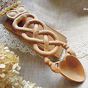Посуда ручной работы. Ярмарка Мастеров - ручная работа Ложка любви резная из бука подарок на помолвку свадьбу оберег семьи. Handmade.