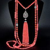 Украшения handmade. Livemaster - original item Pink coral necklace PINK FLAMINGO Beads Transformer. Handmade.