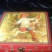 Кукольные домики ручной работы. Ярмарка Мастеров - ручная работа Набор старинных деревянных кубиков в коробе. Handmade.
