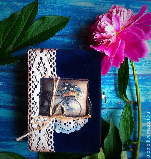 Блокноты ручной работы. Ярмарка Мастеров - ручная работа. Купить Blue romantic- блокнот ручной работы. Handmade. для девушки