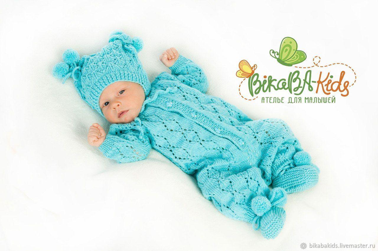 Мастер класс вязания комбинезона новорожденному