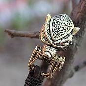 Украшения handmade. Livemaster - original item Bracelet braided: Men leather bracelet - Bear. Handmade.