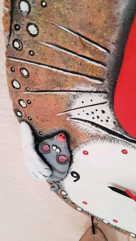 Часы Новый год Год крысы Кухонные часы Новогодний подарок Кот Мышка, Часы, Анапа,  Фото №1