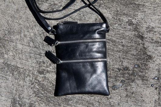 Женские сумки ручной работы. Ярмарка Мастеров - ручная работа. Купить Сумка черная через плечо. Handmade. Тёмно-синий