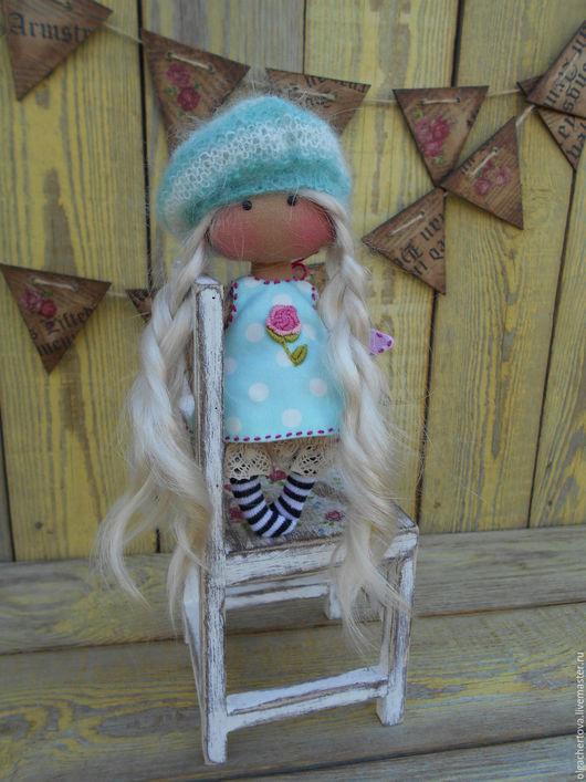 Коллекционные куклы ручной работы. Ярмарка Мастеров - ручная работа. Купить Ангелочек 14 см  в сумочке (с подушкой и одеялом). Handmade.