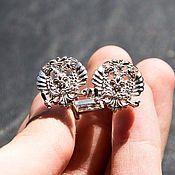 Украшения handmade. Livemaster - original item Cufflinks of 925 silver with double-headed eagle. Handmade.