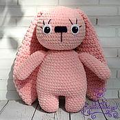 Куклы и игрушки handmade. Livemaster - original item Bunny of plush yarn with big ears. Handmade.