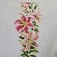 Картины цветов ручной работы. Цветы: розы, тюльпаны, лилии. ElenaLeo Вышитые картины,браслеты. Ярмарка Мастеров. Нежный подарок