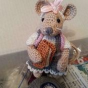 Куклы и игрушки ручной работы. Ярмарка Мастеров - ручная работа Мышь школьница. Handmade.