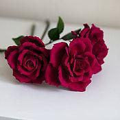 Цветы и флористика ручной работы. Ярмарка Мастеров - ручная работа Роза на стебле. Handmade.