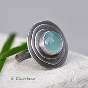 Украшения handmade. Livemaster - original item Wave Runner ring (925 silver, Aqua chalcedony). Handmade.