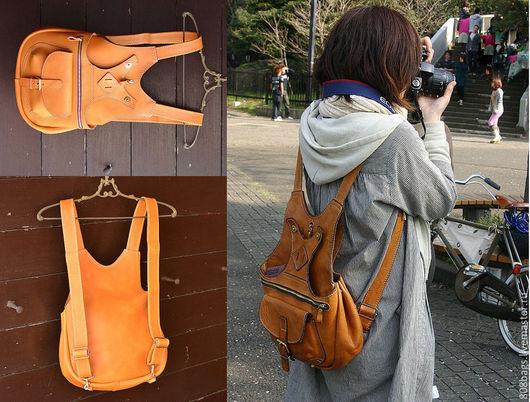 Рюкзаки ручной работы. Ярмарка Мастеров - ручная работа. Купить Выкройка 03_07 рюкзак кожаный унисекс. Handmade.