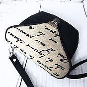Классическая сумка ручной работы. Ярмарка Мастеров - ручная работа Сумочка текстильная Письмо. Handmade.